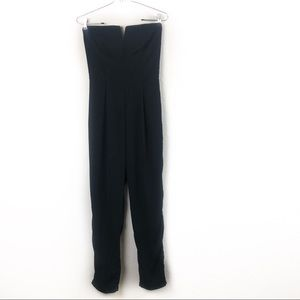 Charlotte Russe Black Strapless Jumpsuit Small